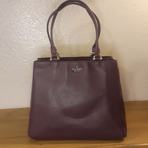 Kate Spade 3 Compartment Satchel in Eggplant
